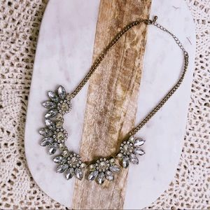 Statement Necklace Art Deco Jeweled Chain Necklace